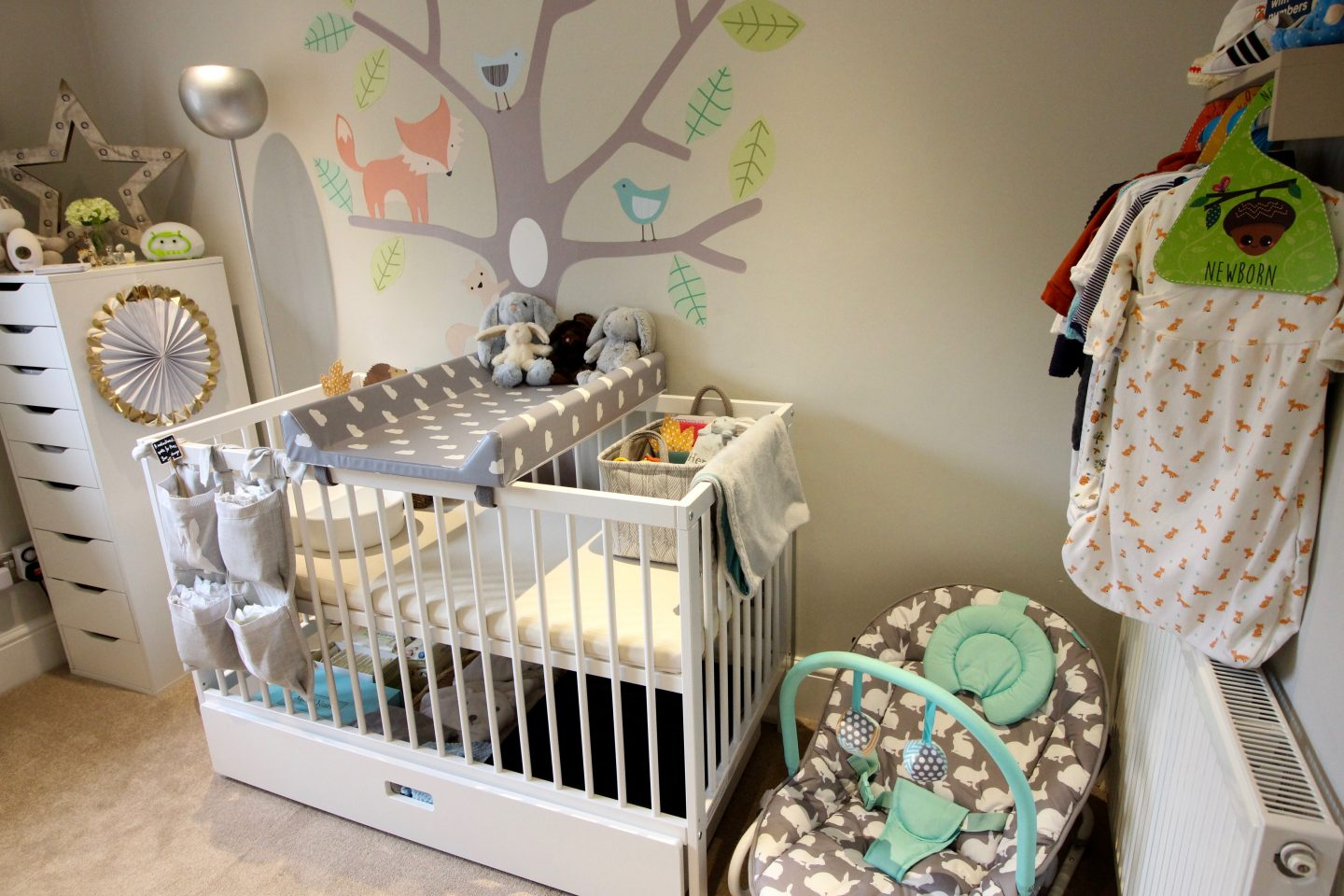 Our Woodland Themed Nursery Tour including Ikea Hacks!