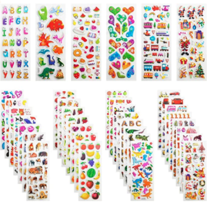1000 3D stickers