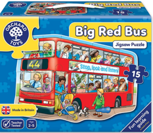 Big Red Bus Floor Puzzle